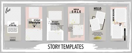 Trendy editable template for social networks story, vector illustration. Design backgrounds for social media. Illustration