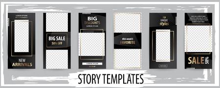 Trendy editable template for social networks stories, vector illustration. Design backgrounds for social media. Illustration
