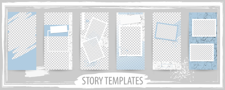 Trendy editable template for social networks story, vector illustration. Design backgrounds for social media. Ilustração