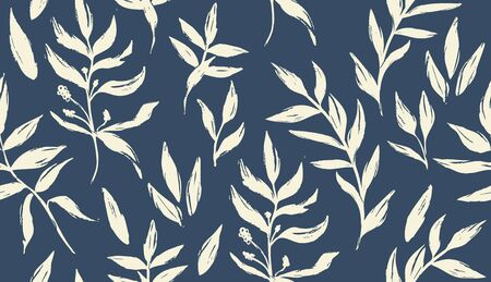 Seamless floral pattern. Vector hand draw floral background for wallpaper, cover, fabric, textile