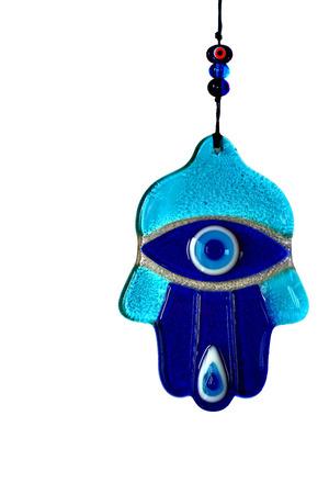 knack: Evil eye hand of amulet on white