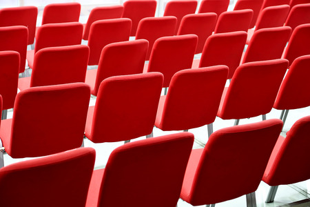 Many Empty Red Seats In Rows Stock Photo - 28351020