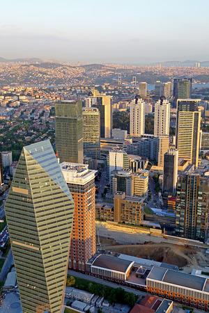 Office Buildings with Bosphorus Bridge View photo