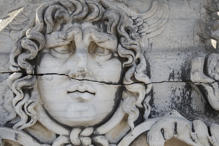 Medusa Gorgon in Apollo Temple, Didyma, Turkey, 2014
