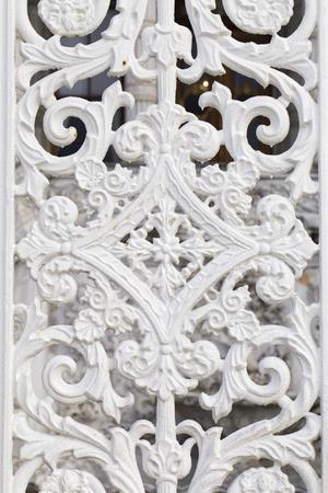 garden gate: White wrought metal pattern, historical Ottoman garden gate motifs