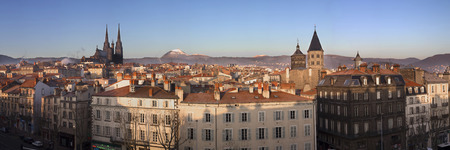 Panoramic view of Clermont-Ferrand city center, Fransa