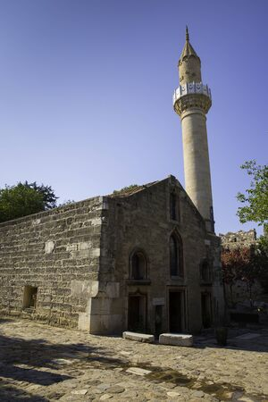 Old historical Mosque in Bodrum Castle in Turkey