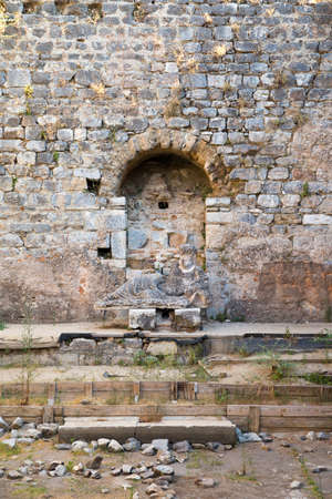 Baths of Faustina in the ancient city of Miletus near Bodrum Turkey Standard-Bild