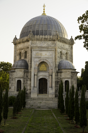 mehmed: Mehmed fifth Reshad, Sultan Resat Tomb in Eyup region in Istanbul Stock Photo