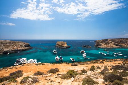 Comino island Malta in Mediterranean