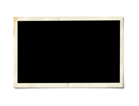element old: Old Photo Border. Isolated on white background with clipping path. Stock Photo