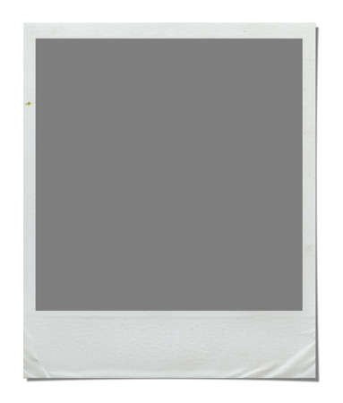 white frame: Blank Photo Border. Isolated on white background with clipping path.