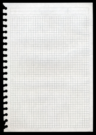 actual: Very high resolution image of actual notepad page isolated on black