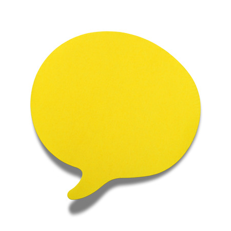 bubble letters: Speech Bubble, of yellow paper ready to accept any message