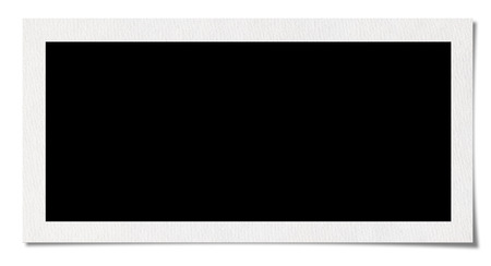 instant film transfer: Blank Photo Border. Isolated on white background  Stock Photo