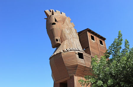 actual: Troy horse imitation in the actual city of Troy in Turkey