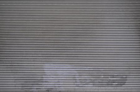 shutter door: Rolled Plastic Shutter Door Stock Photo