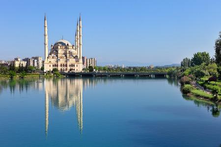turkey: Big Mosque with six minaret in Adana, TURKEY