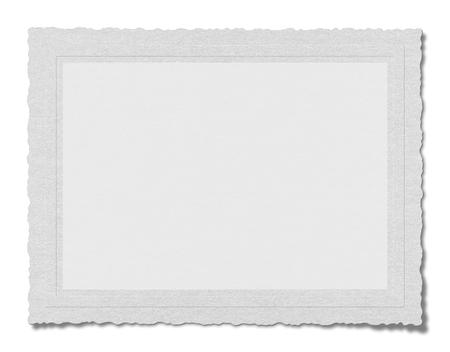 background white: Papel en blanco con textura aislado en fondo blanco
