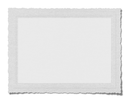 white textured paper: Textured blank paper isolated on white background