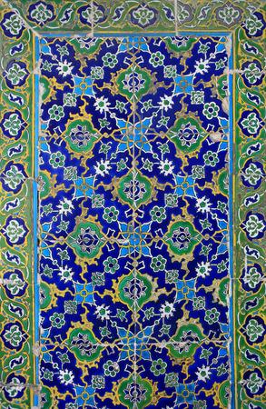 encaustic: Ottoman Style Ceramic Stock Photo