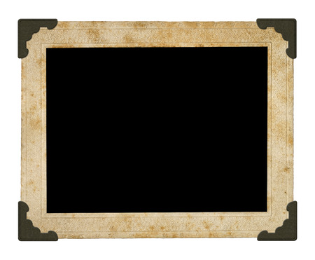 photo paper: vintage photo frame. Isolated on white background.(Clipping path)