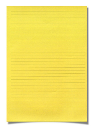 lined: Yellow lined paper
