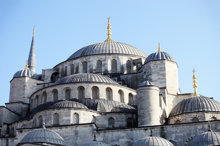 blue mosque: View of the famous Blue Mosque Sultan Ahmet Cami in Istanbul Turkey