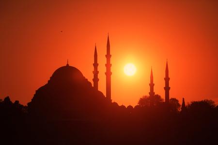 suleymaniye: Suleymaniye Mosque and Sunset Stock Photo