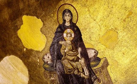 testaments: Virgin Mary and baby Jesus at Hagia Sophia