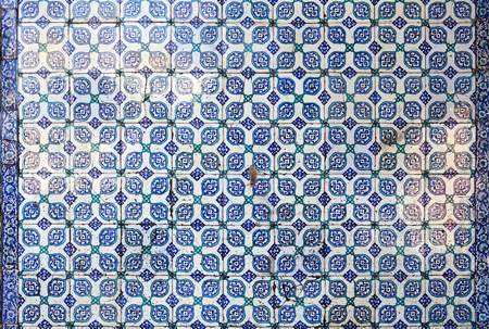 fatih: Tiles of walls of New mosque in Fatih, Istanbul, Turkey