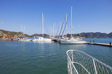 aegean: Gocek Marina in Aegean coast of Turkey
