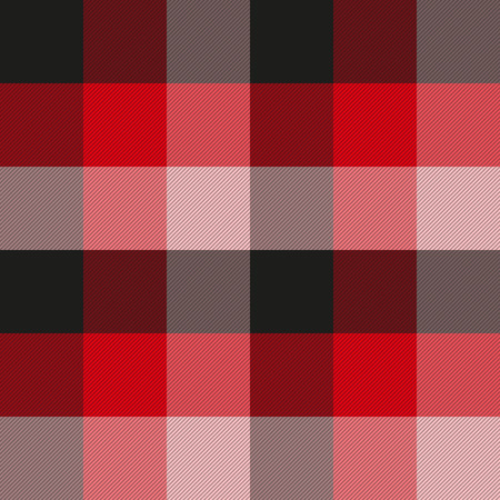 Seamless plaid fabric pattern. Checkered texture