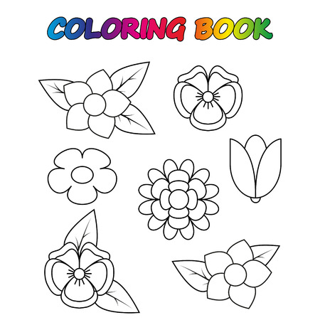 coloring book. Coloring page to educate preschool kids. Game for preschool kids. Vector cartoon Illusztráció