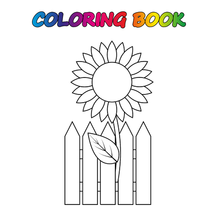 coloring book. Coloring page to educate preschool kids. Game for preschool kids. Vector cartoon  イラスト・ベクター素材