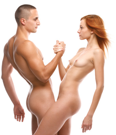 sex tenderness: photo of nude sexy couple in love