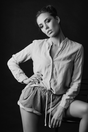 Beautiful model brunette