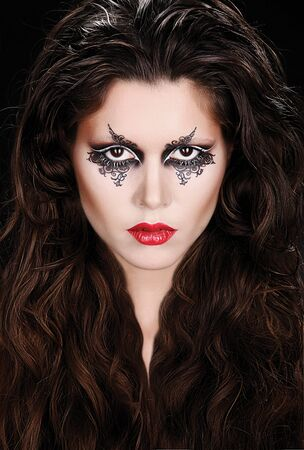 Young lady portrait with fantasy makeup.