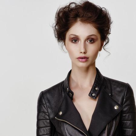 Beautiful woman face. Perfect makeup. Beauty fashion.