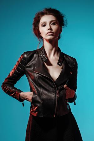 Glamour Fashion Woman Portrait Foto de archivo