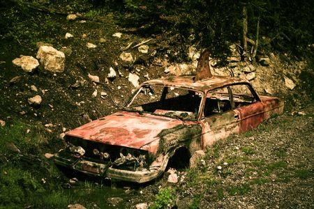 rusty car: creative rusty car