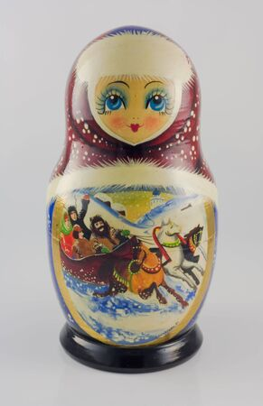 a russian doll  Stock Photo