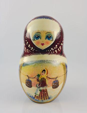 Handpainted Souvineer Puppe aus Russland  Standard-Bild - 7513337