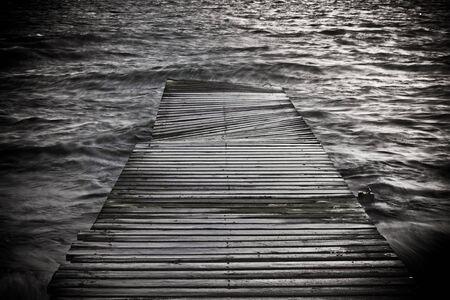 black and white creative photo of a footbridge Stock Photo - 7593923