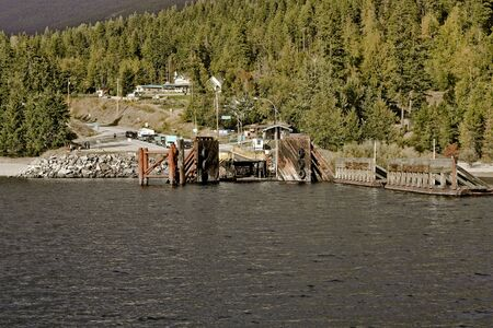 landing stage: ferry landing stage in mountain lake 9