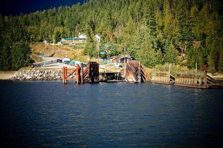 landing stage: ferry landing stage in mountain lake 8