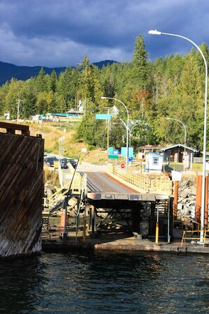 swimm: ferry landing stage in mountain lake 2