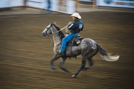 man flying: Rodeo