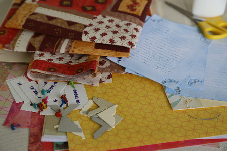 brads: Part of scrapboking work table Scrapbooking supplies and accessories