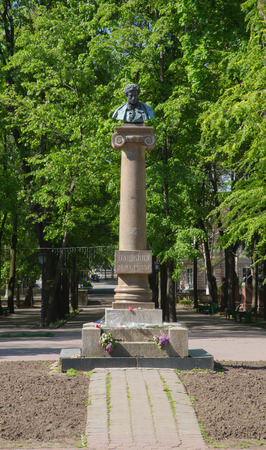 romaticism: Chisinau, Republic of Moldova. April 27, 2014. The monument is placed in the central park of Moldovan capital, Chisinau. It is dedicated to Russian poet of 19th century- Alexander Pushkin. Russian author of the Romanticism,the greatest Russian poet and th